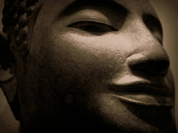 Buddha Art Print featuring the photograph Mysterious Buddha by Cara Imperato