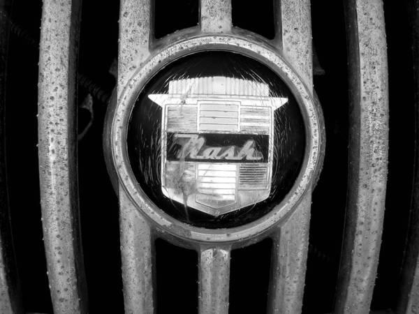 Car Art Print featuring the photograph Nash Emblem by Audrey Venute