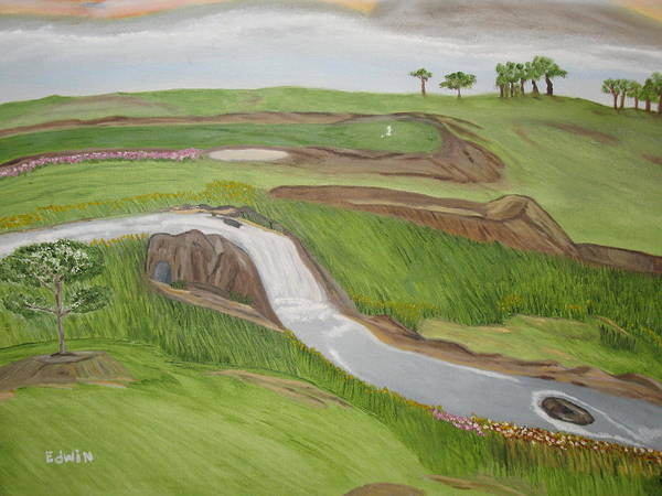 Golf Art Print featuring the painting Natural Golf by Edwin Long