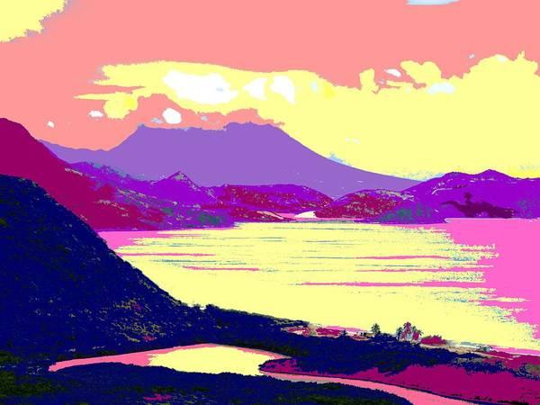 Nevis Art Print featuring the photograph Nevis From The Penninsula by Ian MacDonald