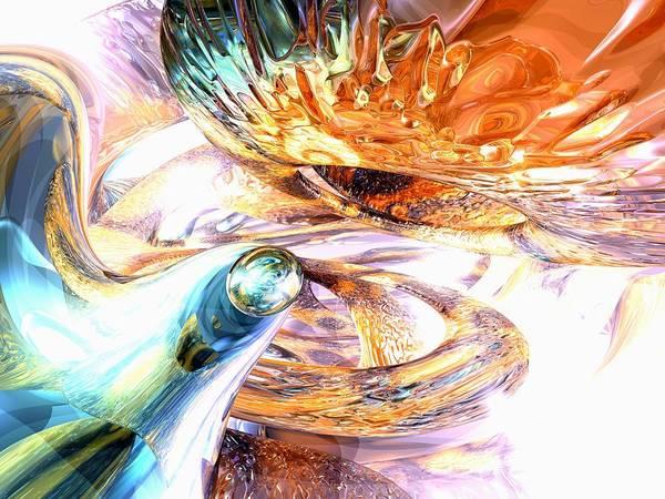 3d Art Print featuring the digital art New Beginnings Abstract by Alexander Butler