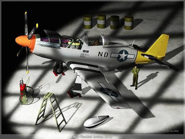 Jim Coe Art Print featuring the digital art New Bird Arrives by Jim Coe