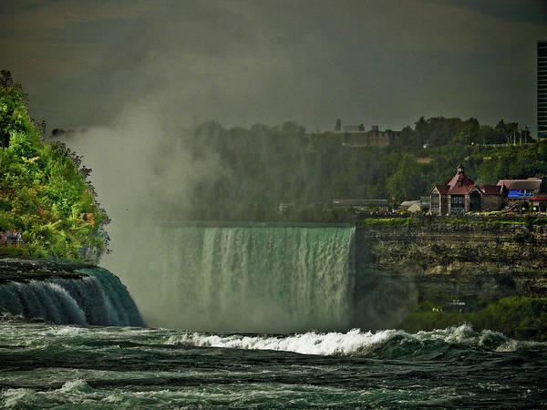 Niagara Falls Art Print featuring the photograph Niagara Falls In Autumn by Rosemary McGahey