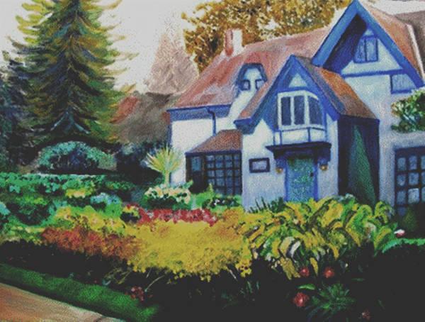 Niagara Art Print featuring the painting Niagara Garden by Keith Bagg