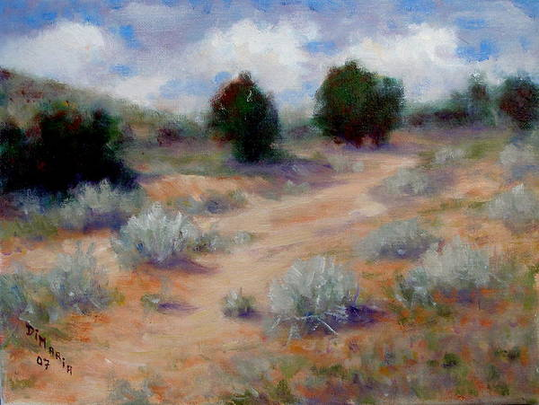 Realism Art Print featuring the painting North Of Santa Fe by Donelli DiMaria