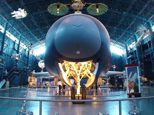 Space Shuttle Art Print featuring the photograph Nose Down - Enterprise by Charles Kraus