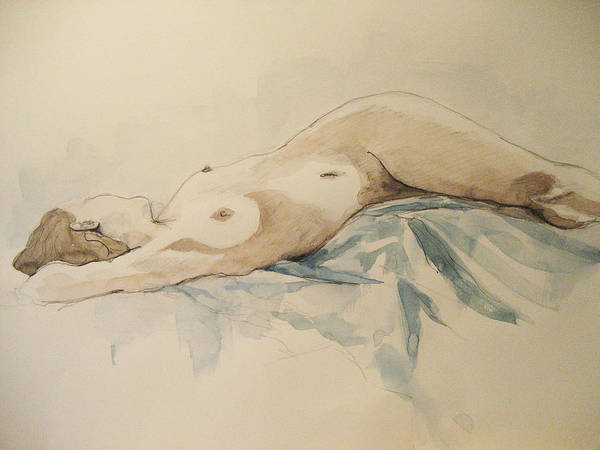 Nude Art Print featuring the painting Nude 9 by Victoria Heryet
