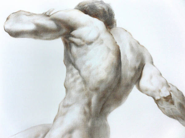 Man Art Print featuring the painting Nude1c by Valeriy Mavlo