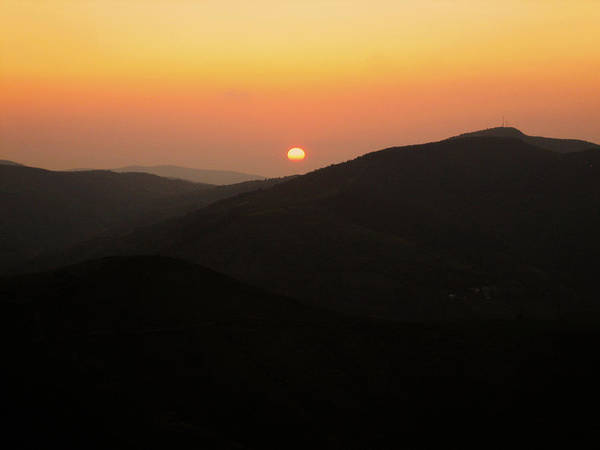 Sunset Art Print featuring the photograph O Cebreiro by Oliver Johnston