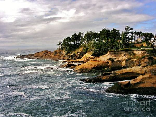 Pacific Coast Art Print featuring the photograph Oceanside - Depoe Bay by Marilyn Smith