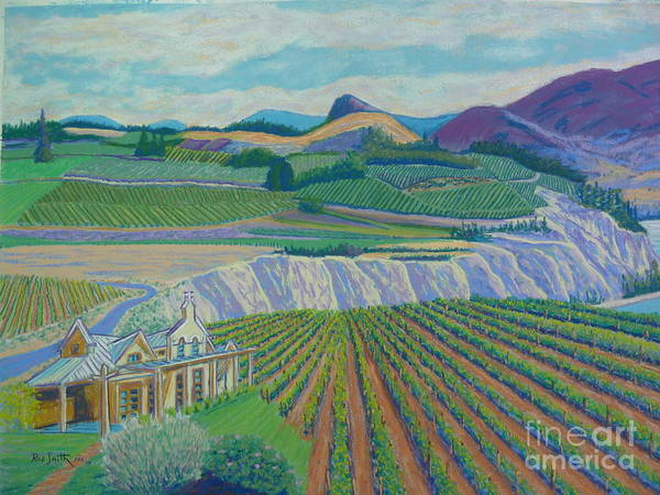 Pastels Art Print featuring the pastel Okanagan Valley by Rae Smith PSC