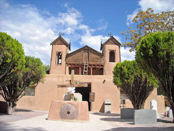 New Mexcio Church Art Print featuring the photograph Old Church In Chimayo by Randy Rhodes