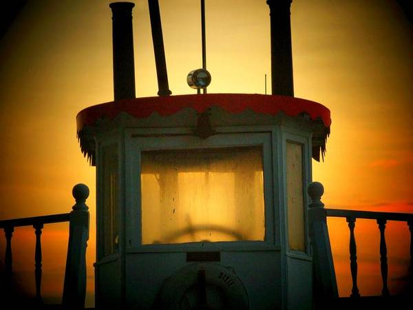 Boat Art Print featuring the photograph Old Dixie Boat Cab Sunrise by Michael L Kimble