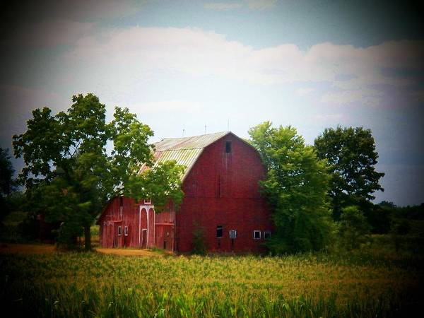 Barn Print featuring the photograph Old Indiana Barn by Joyce Kimble Smith