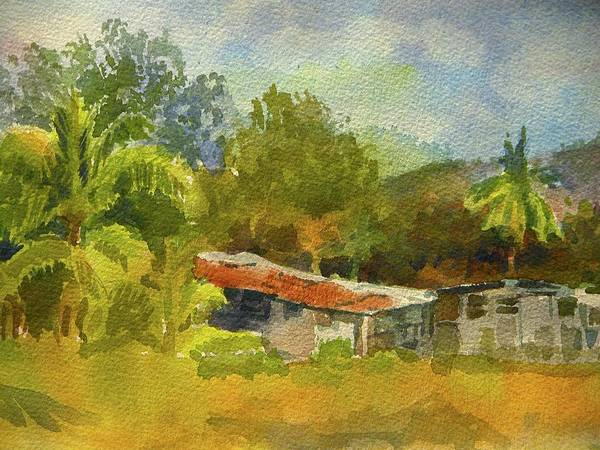 Walt Maes Art Print featuring the painting Old Ranch In Costa Rica by Walt Maes