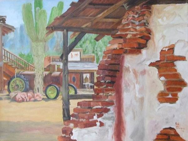 Art Print featuring the painting Oldtown by Robert Silvera