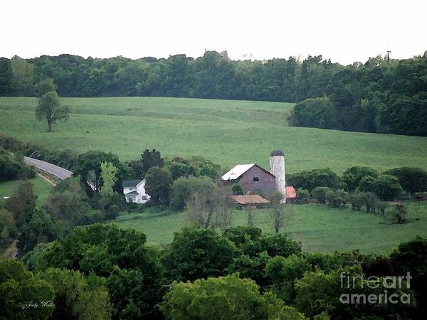 Hills Art Print featuring the photograph On The Farm by Judy Waller