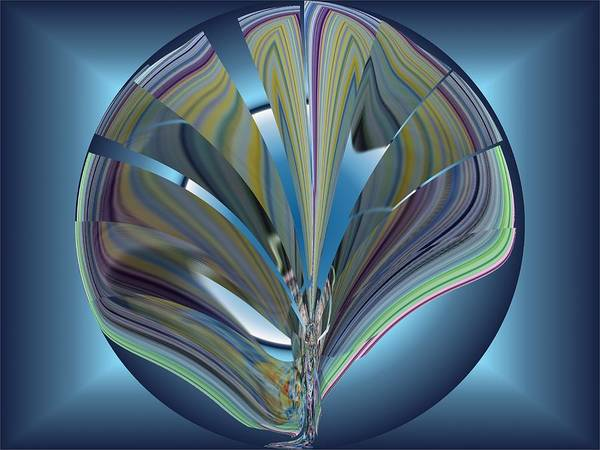 Abstract Art Print featuring the digital art On The Half Shell by Tim Allen