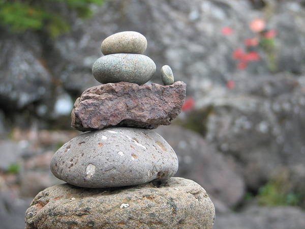 Rocks Art Print featuring the photograph One More by Kelly Mezzapelle