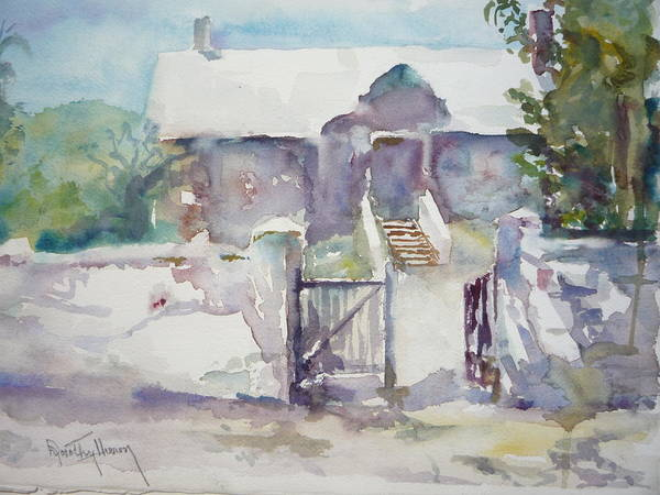 Plen Air Art Print featuring the painting Open Gate by Dorothy Herron