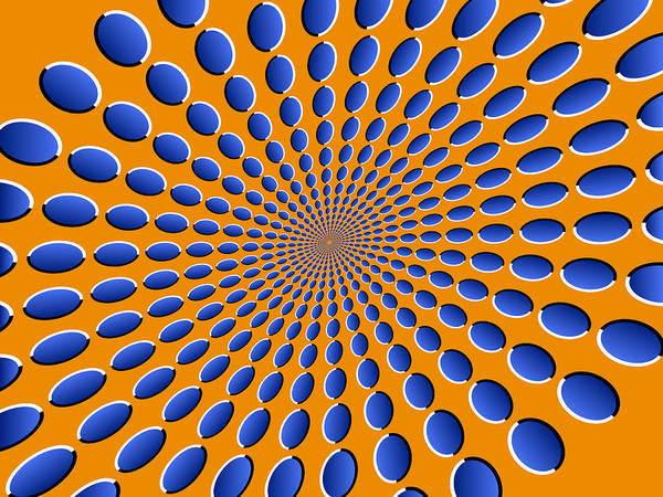 Optical Illusion Print featuring the digital art Optical Illusion Pods by Michael Tompsett