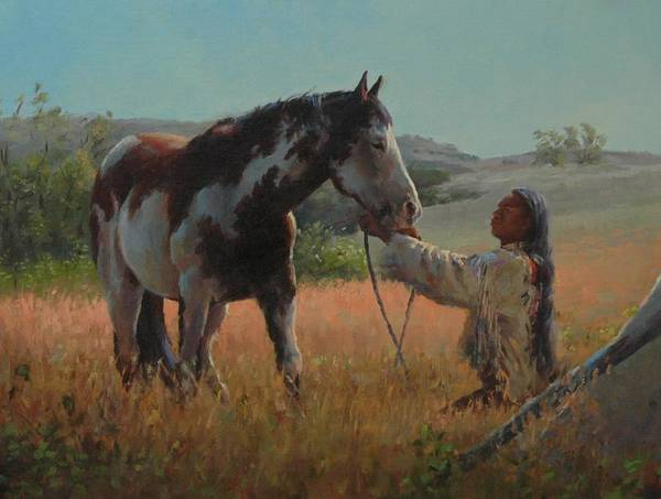 West Art Print featuring the painting Ottumwa Dawn by Jim Clements