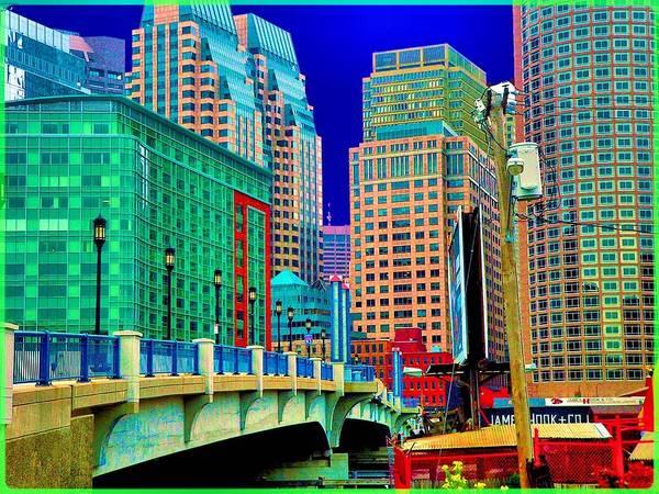 Cityscape Art Print featuring the photograph p1070571b Boston Bridge by Ed Immar