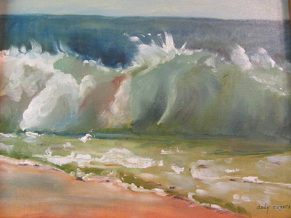 Seascape Art Print featuring the painting Pacific Wave by Dody Rogers