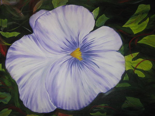 Flower Art Print featuring the painting Pansy by Michael Schedgick