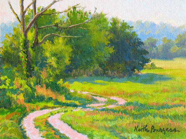 Landscape Art Print featuring the painting Pasture Road by Keith Burgess