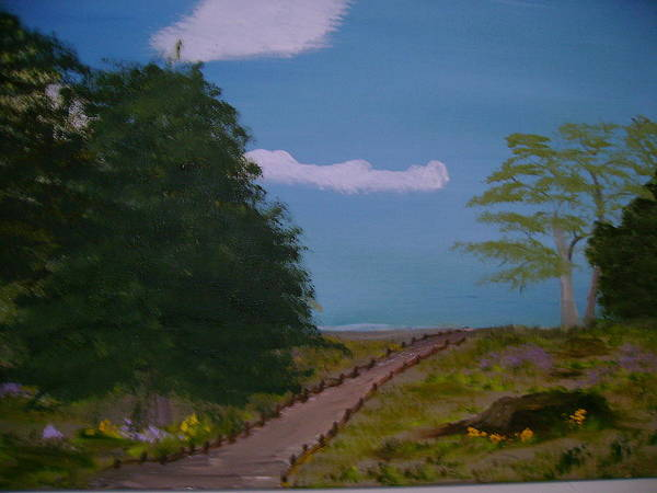 Landscape Art Print featuring the painting Pathway by Dottie Briggs
