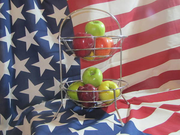 Apples Art Print featuring the photograph Patriotic Apples by Don Howard