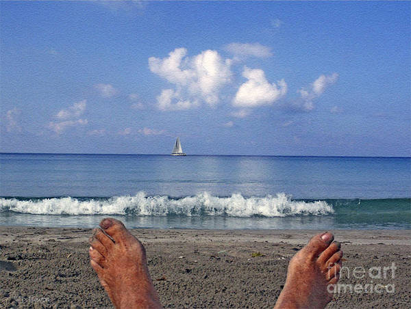 Sea Art Print featuring the photograph Peaceful Existence by Dee Flouton