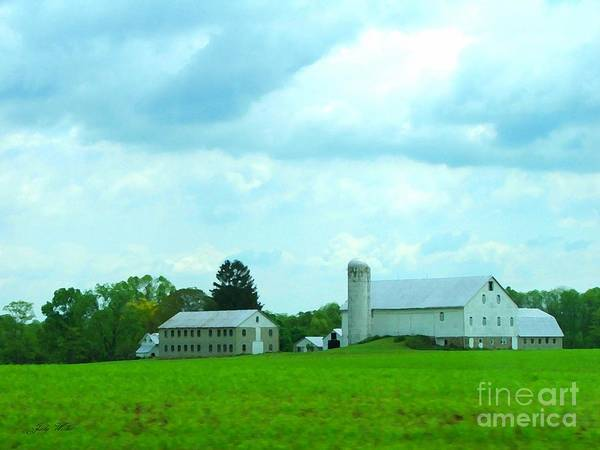 Landscape Art Print featuring the photograph Pennsylvania Barn by Judy Waller