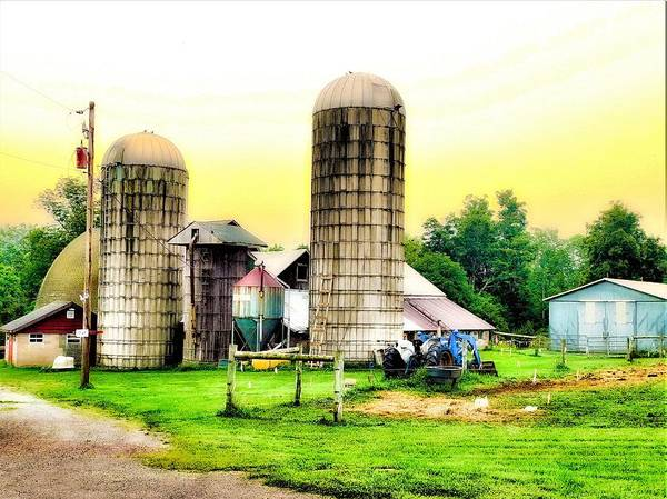Barn Art Print featuring the photograph Pennsylvania Farming by Jerry O'Rourke