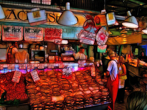 Seattle Art Print featuring the photograph Pike Place Market by Tim Coleman