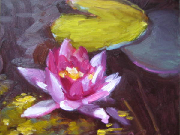 Lily Art Print featuring the painting Pink Lily by Susan Jenkins
