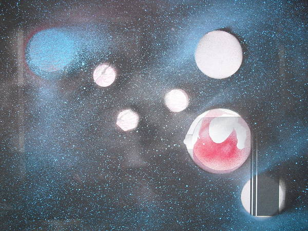 Space Art Planets Art Print featuring the painting Planet Cripton by Troix Johnson