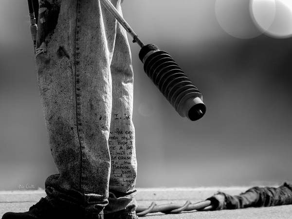 Street Photography Art Print featuring the photograph Poetry Pants And Flamethrower by Bob Orsillo