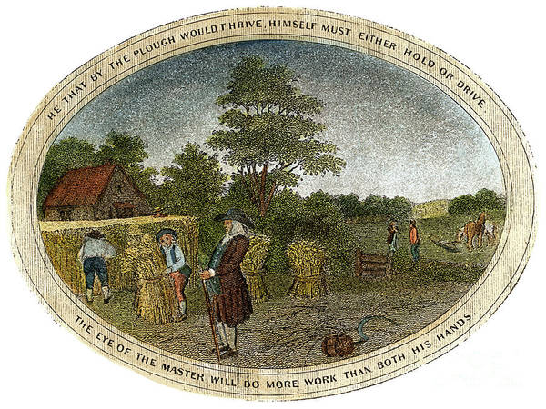 1800 Art Print featuring the drawing Poor Richard Illustrated by Granger