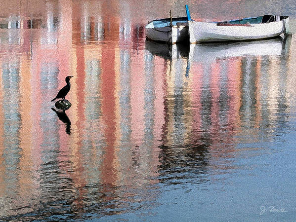 Reflections Art Print featuring the photograph Portofino by Joe Bonita
