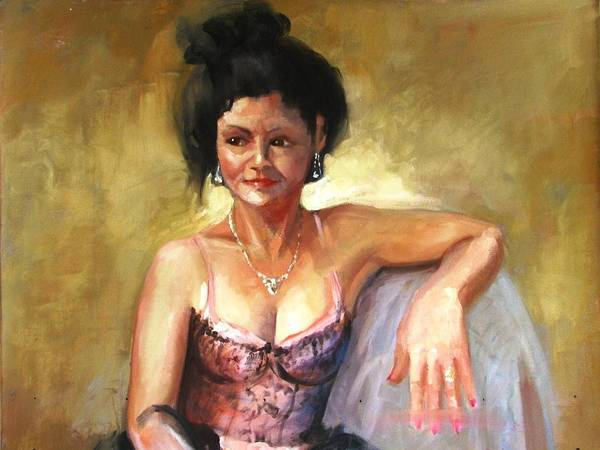 Portraits Art Print featuring the painting Portrait Sample by Podi Lawrence