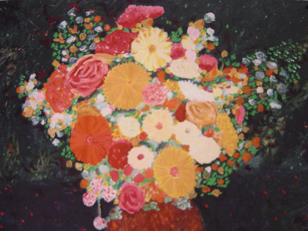 Art Print featuring the painting Pot With Flowers by Biagio Civale
