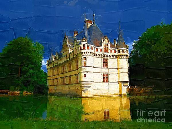 Castle Art Print featuring the painting Princess Castle by Deborah Selib-Haig DMacq