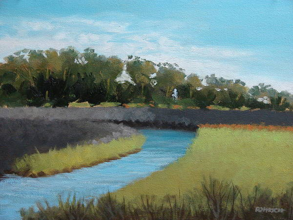 Landscape. Waterway Art Print featuring the painting Princess Place Preserve by Robert Rohrich