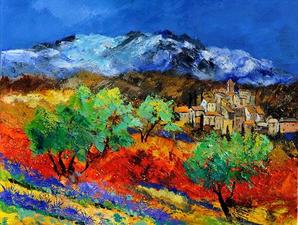 Landscape Art Print featuring the painting Provence 790050 by Pol Ledent
