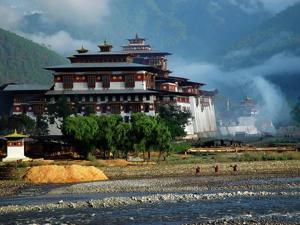 Punakha Dzong Art Print featuring the photograph Punakha Dzong by Michael Morrissey