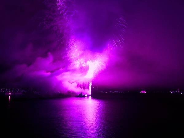 Fireworks Art Print featuring the photograph Purple Haze by Kendall Eutemey