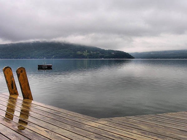 Keuka Lake Art Print featuring the photograph Rainy Day Keuka by Steven Ainsworth