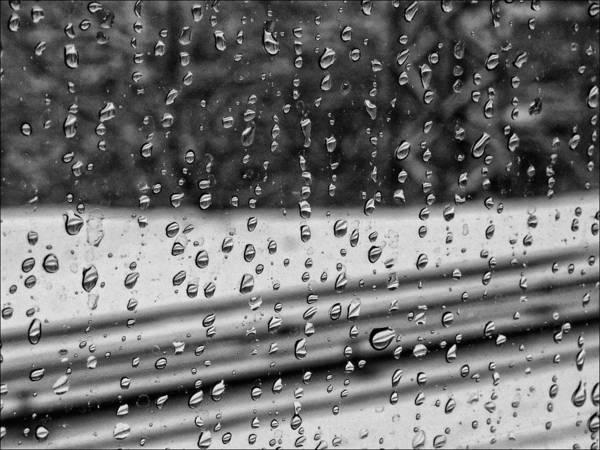 Rain Art Print featuring the photograph Rainy Day On The Train by Robert Ullmann